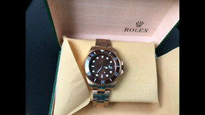 Gool rose color rolex submarine