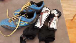 Size 1 Cleats and shin pads