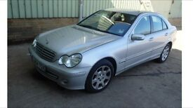 BREAKING MERCEDES C CLASS FACELIFT W203 271 SILVER C180k