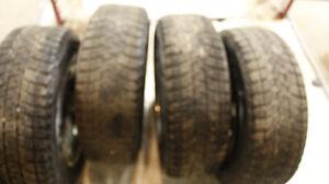 4 winter Blizzak DM-V1 Tires (P-245/70R17) on Dodge Rims Strathcona County Edmonton Area image 3