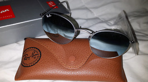 Ray ban BRAND NEW round silver mirror for sale