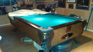 Very onate 4x8 Bar stile Slate Pool Table