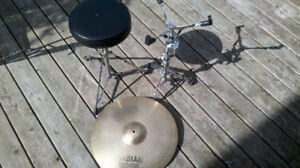 New Price. Sabian ride, Snare stand, Stool.