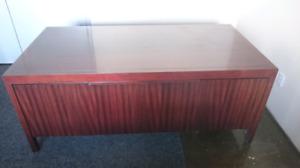 Solid mahogany desk 6x3