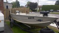 Sell or trade 16.5 seanymph fishing boat 40hp johnson 1996 trail