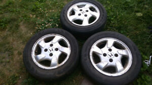 3 JANTES HONDA R15/ MAGS Bolt Pattern 4x4.5 inch/ RIMS/ roues/ p