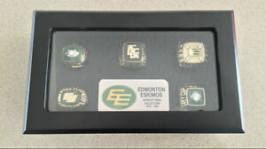 Edmonton Eskimos (78-82) Grey Cup Championship Ring Collection