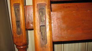 Antique beds: head & foot & rails.  Plus chest of drawers