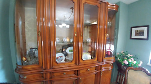 China Cabinet and Dining Set