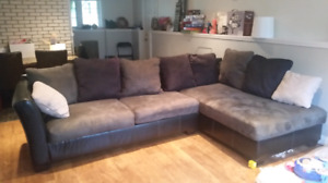Sectional and cuddle chair   850.00