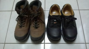 Steel toe safety shoes size 9