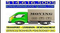 Livraison Transport Déménagement mini budget 24/24