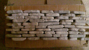 Nusantara stacked stone wall mosaic tile