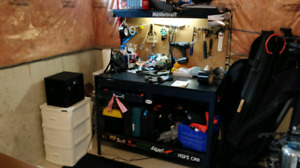 MasterCraft work bench with light and power bar