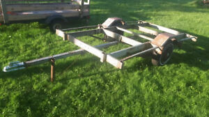 trailer frame and lawn mowers