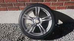 Hankook winter ice m+s tires (x4) on 5 spoke rims.