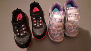 2 pairs of Size 1 sneakers
