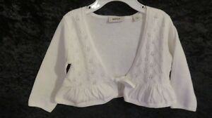 Baby Girl MEXX Cardigan Sweater Cream Size 6-9 Mths