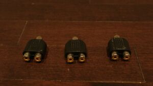 Three Composite AV Cable 1-to-2 Splitters