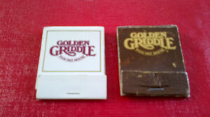 Matchbook Covers-Golden Griddle Pancake House Kitchener / Waterloo Kitchener Area image 1