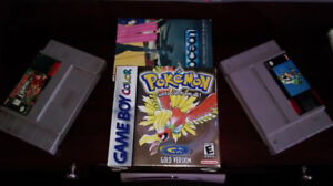 CIB Pokémon Gold & two SNES games (for parts)