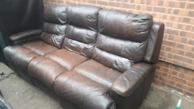 FREE DELIVERY!!! 3 AND 2 LEATHER ELECTRIC RECLINERS