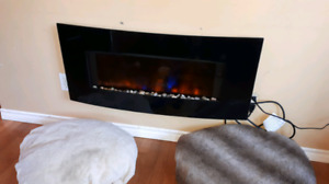 *REDUCED*  electric fire place