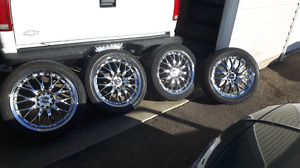 "17"" core racing rims 5/100mm and 5/114mm bolt pattern"