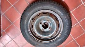 "Citreon Saxo 13"" 4x108 Spacesaver Steel Wheel & Tyre"