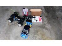 Radio controlled nitro powered car