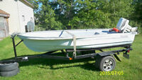 12ft boat , motor, trailer