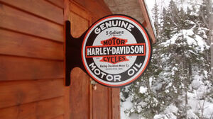 HARLEY AND INDIAN MOTORCYCLE SIGNS