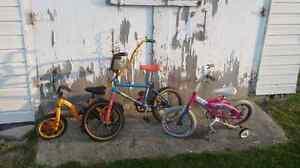 3 Free children's bikes