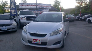 2010 Toyota Matrix hatchback....low kilometers