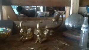 Vintage yellow brass collectables