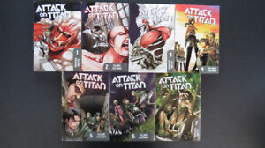 Attack On Titan Manga Vol 1-7