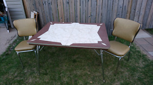 New price on Retro  one of a kind table and chairs