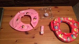 Dora potty seats with potty hook-pink seat is collapsing