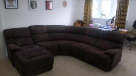 Corner sofa 5 seats with chaise lounge