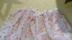 Pink polka dot grommet curtains London Ontario image 1
