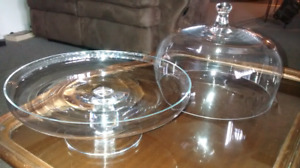 Cake, cupcakes, desserts, cookies Glass Dome Display Plate