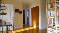 Sunny and spacious upper duplex for rent in NDG