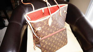 B/New Louis Vuitton MM NEVERFULL with dusty bag and box