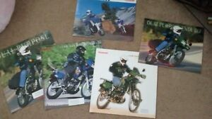 COLLECTION OF KLR650 BROCHURES FOR THE KLR ENTHUSIAST