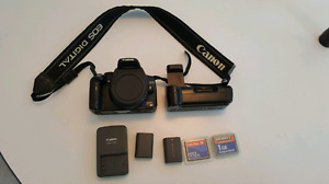 Canon Rebel XT body with batteries, grip, etc