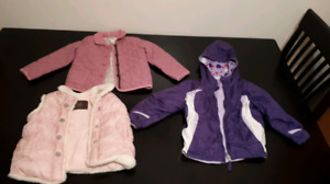 Girls size 4t spring coats