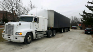 1995 Freightliner with 1999 Truway Trailer comes with job