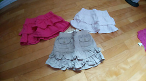 Girls skirts and shorts (size 4)
