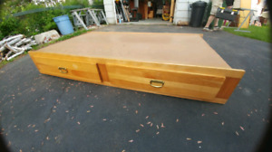 Captain style single bed frame