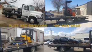 FLAT BED TOW TRUCK TILT & LOAD SERVICE FORKLIFT MOVING & TOWING